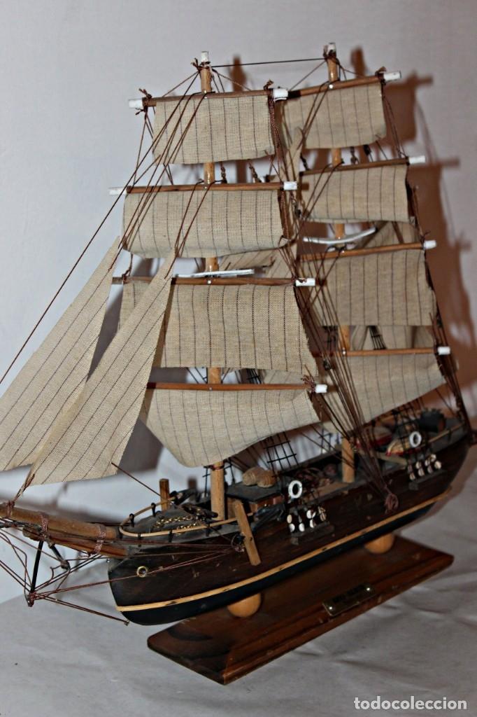 Artesanía: Barco S XIX de madera. Años 50´s. (1) - Madera de roble y partes metálicas España - Primera mitad de - Foto 15 - 177326927