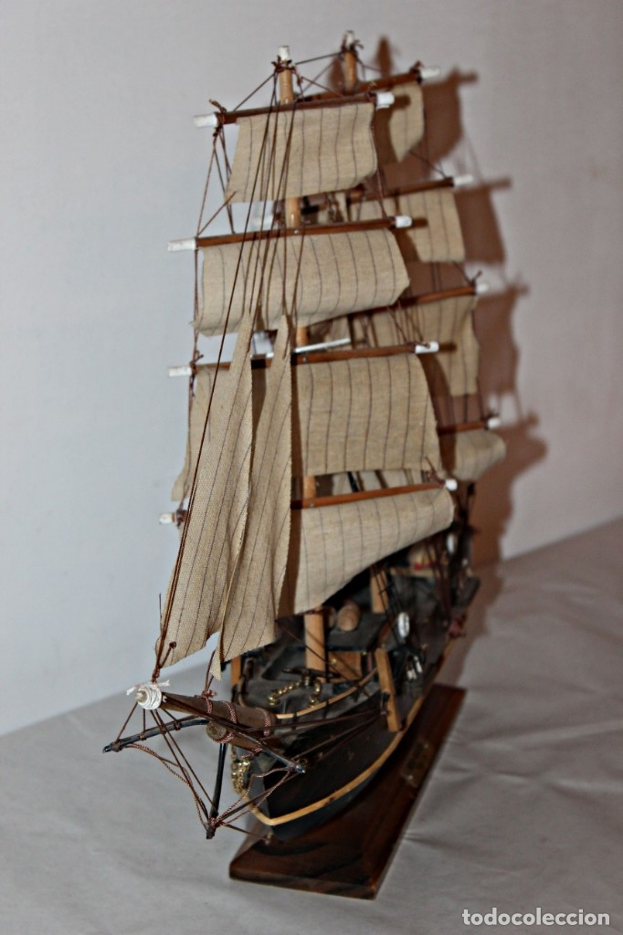 Artesanía: Barco S XIX de madera. Años 50´s. (1) - Madera de roble y partes metálicas España - Primera mitad de - Foto 16 - 177326927