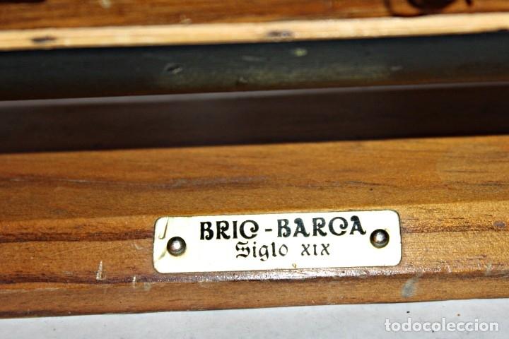 Artesanía: Barco S XIX de madera. Años 50´s. (1) - Madera de roble y partes metálicas España - Primera mitad de - Foto 17 - 177326927