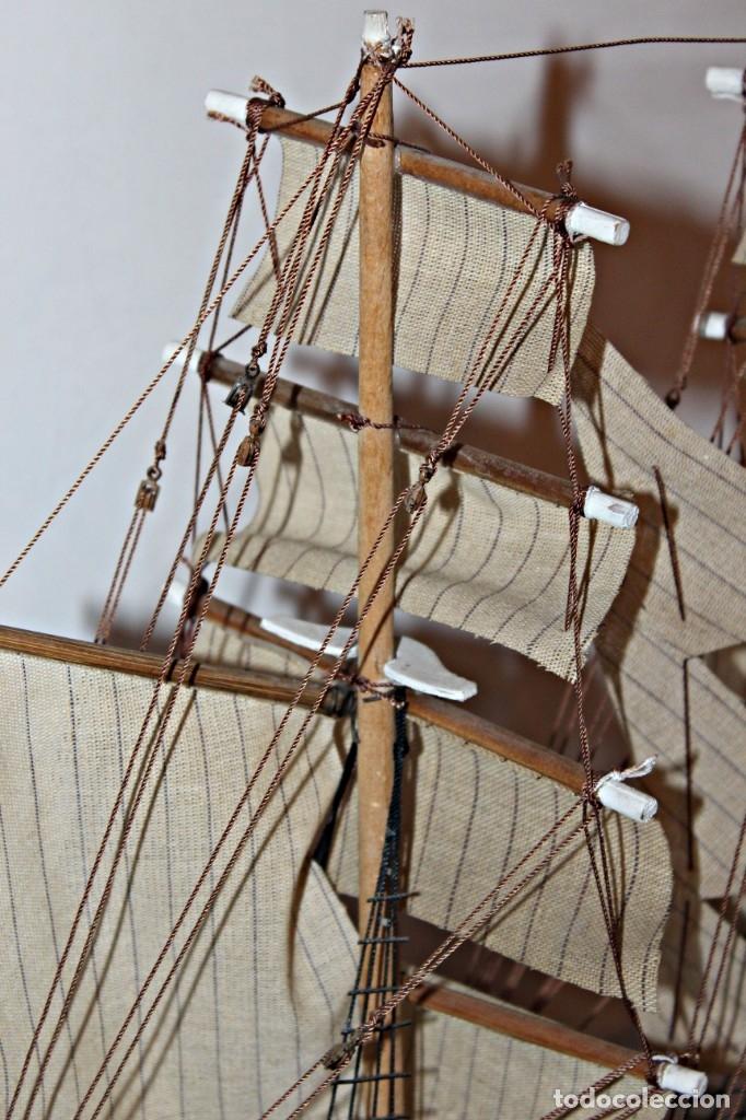 Artesanía: Barco S XIX de madera. Años 50´s. (1) - Madera de roble y partes metálicas España - Primera mitad de - Foto 18 - 177326927