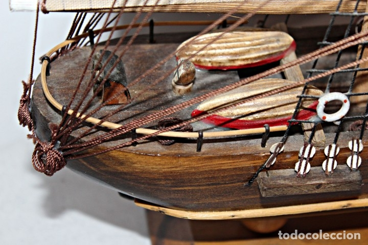 Artesanía: Barco S XIX de madera. Años 50´s. (1) - Madera de roble y partes metálicas España - Primera mitad de - Foto 19 - 177326927