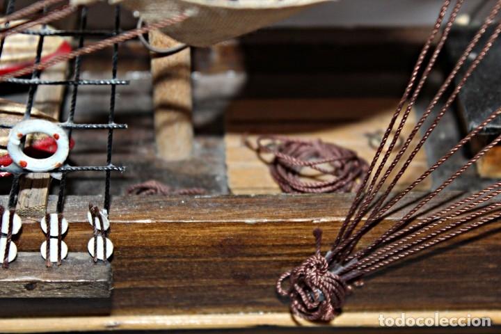 Artesanía: Barco S XIX de madera. Años 50´s. (1) - Madera de roble y partes metálicas España - Primera mitad de - Foto 20 - 177326927