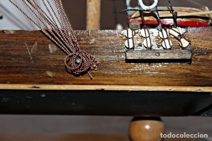 Artesanía: Barco S XIX de madera. Años 50´s. (1) - Madera de roble y partes metálicas España - Primera mitad de - Foto 21 - 177326927