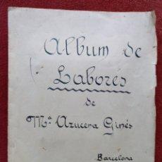 Artesanía: LABORES DE BACHILLERATO AÑOS40 ALBUM 21 X 27 CM (APROX). Lote 177392042