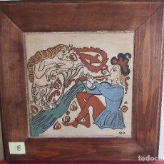 Artesanía: SOCARRAT VALENCIANO. FLAUTISTA Y SIRENA.. Lote 177684904