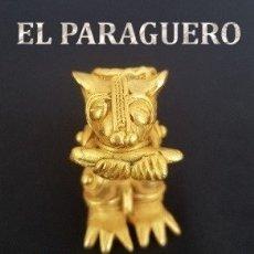 Artesanía: CATURRO MAICERO FIGURA PRECOLOMBINA QUIMBAYA DE ORO TUMBAGA PESO 57,5 GRAM - Nº4. Lote 180950342