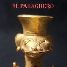 Artesanía: URNA FUNEBRE PRECOLOMBINA TAIRONA DE ORO TUMBAGA PESO 70,5 GRAM - Nº44. Lote 180972010