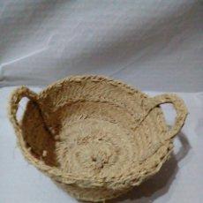 Artesanía: CESTA DE ESPARTO. Lote 180981212