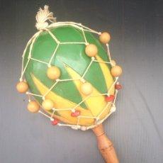 Artesanía: INSTRUMENTO MARACA SUDAMÉRICA. Lote 182083728