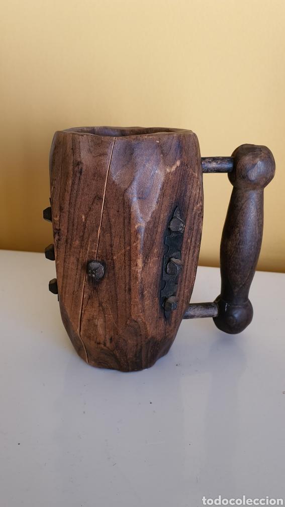 JARRA DE CERVEZA EN MADERA (Artesanía - otros articulos hechos a mano)