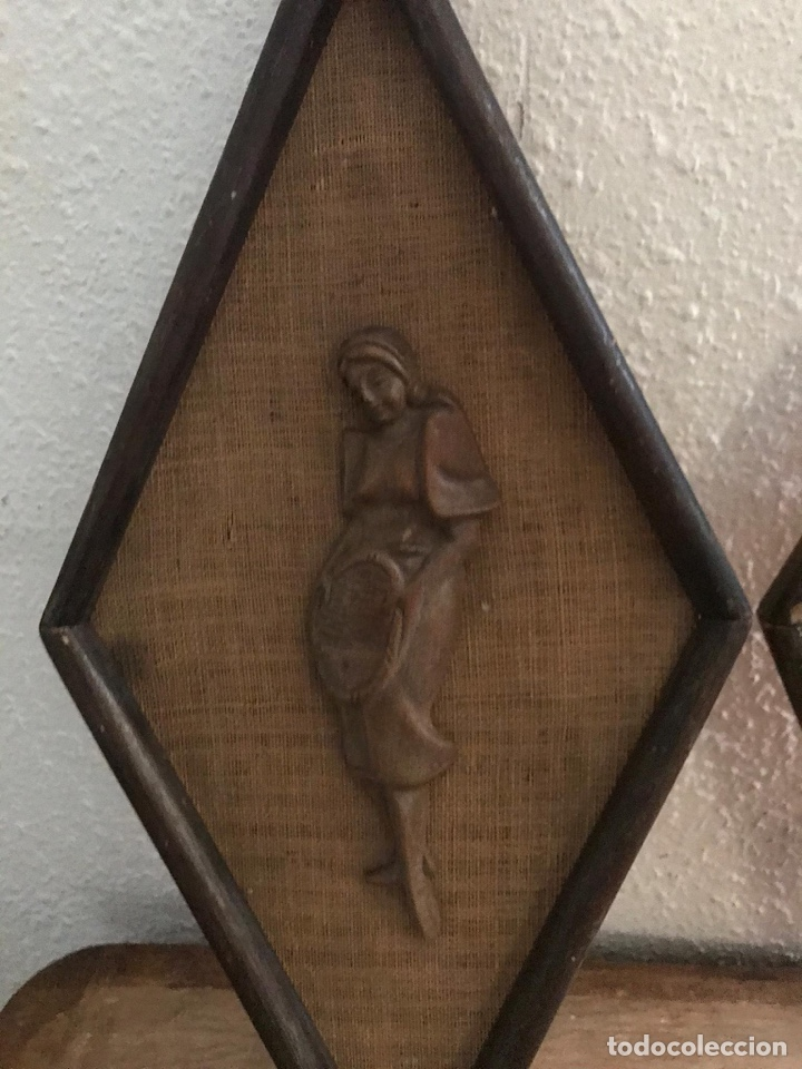 Artesanía: Antiguos cuadros de madera tallada - Foto 2 - 182410063