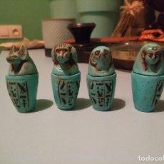 Artesanía: VASIJAS EGIPTO. VASO CANOPO, PARA ÓRGANOS.. Lote 184451040