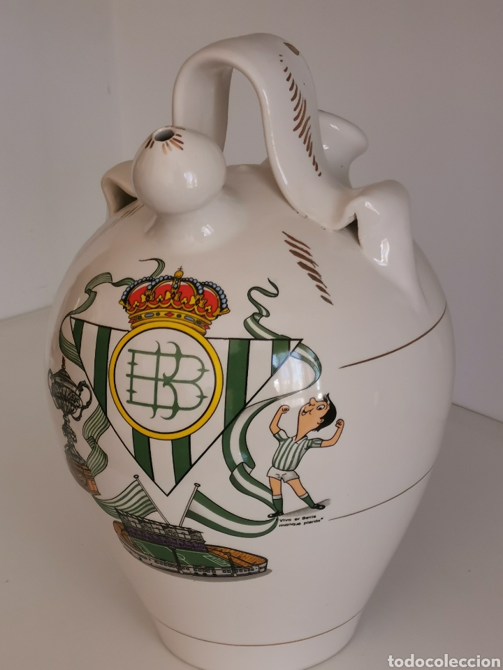 Artesanía: Botijo Real Betis, barro esmaltado - Foto 2 - 184459317