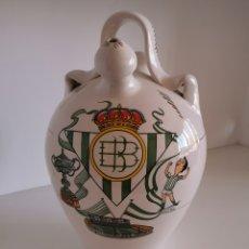 Artesanía: BOTIJO REAL BETIS, BARRO ESMALTADO. Lote 184459317