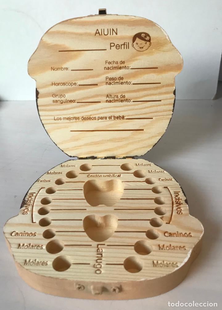 Artesanía: Caja de madera para guardar dientes de leche, decorada a mano nueva - Foto 2 - 186300612