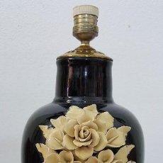 Artesanía: LAMPARA COLOR NEGRO. Lote 191232878