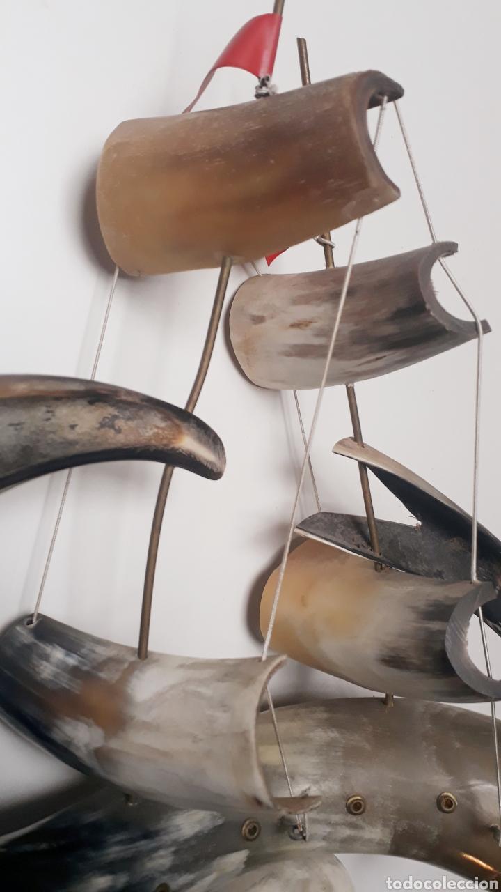 Artesanía: Barco de cuernos grande - Foto 2 - 191840998