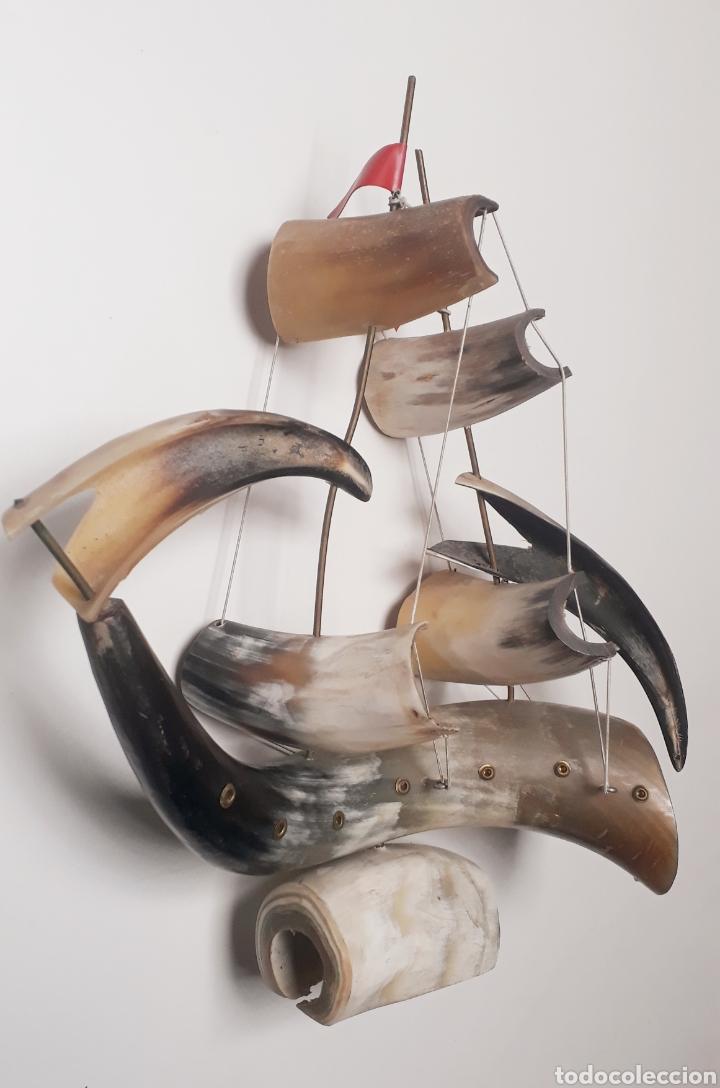 Artesanía: Barco de cuernos grande - Foto 3 - 191840998