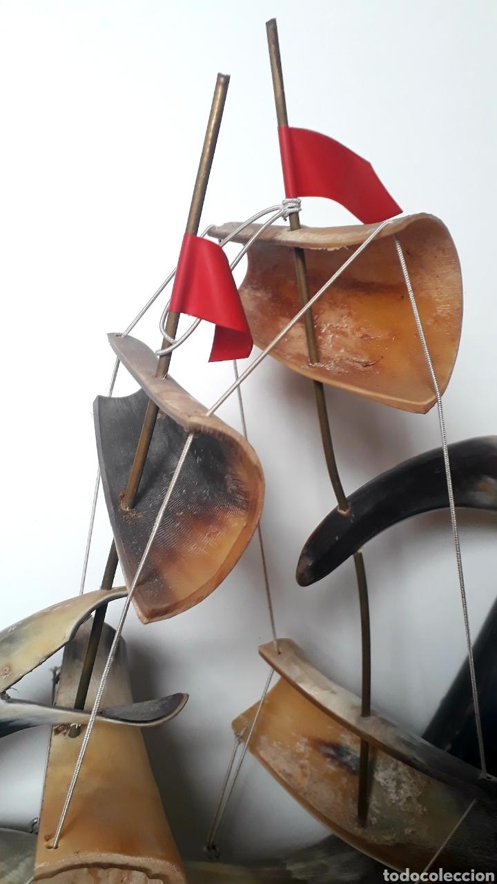 Artesanía: Barco de cuernos grande - Foto 4 - 191840998