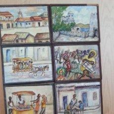 Artesanía: RETABLO ARTESANAL SOBRE ESCENAS SUDAMERICANAS. AÑOS 60.. Lote 192116735