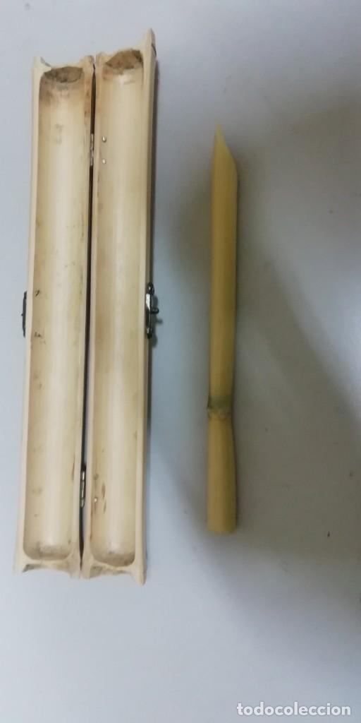 Artesanía: Estuche de caña para cálamo - Foto 5 - 192176258