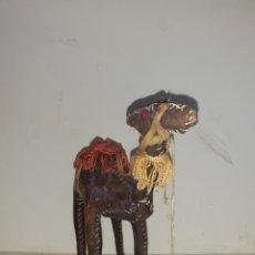 Artesanía: CAMELLO O DROMEDARIO AFRICANO DE PIEL. Lote 195173300