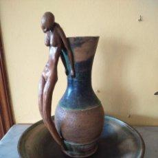 Artesanía: JUEGO DE JARRA Y PALANGANA -- CERAMICA DE GRES -- . Lote 197626356
