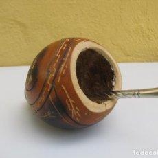 Artesanía: BOMBILLA Y CALABAZA MATE. ARGENTINA. Lote 204347667