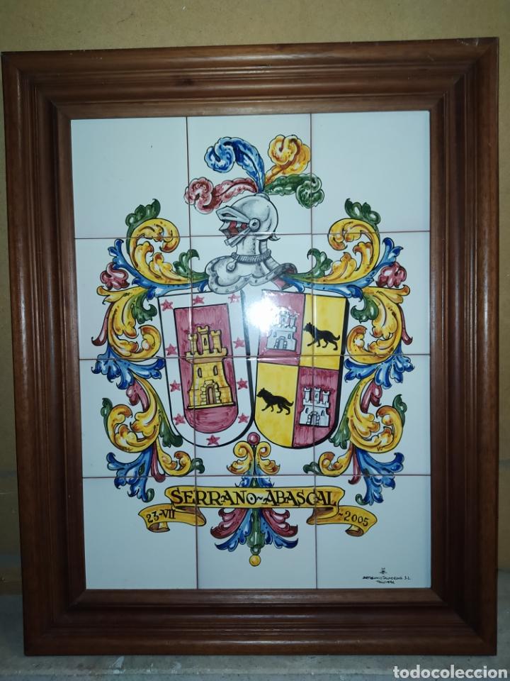 Artesanía: Cuadro de azulejos, con escudo heraldico. Talavera - Foto 2 - 209070222