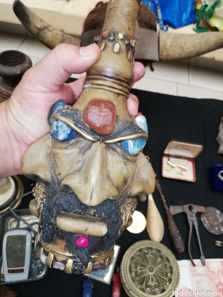 Artesanía: Botella artesanal de la Amazona or tribu.. Piedras naturales.. Amatista..etc..con cuatro cara.. - Foto 2 - 220609707