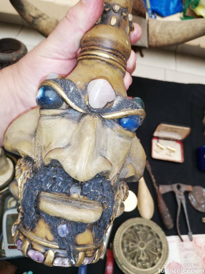 Artesanía: Botella artesanal de la Amazona or tribu.. Piedras naturales.. Amatista..etc..con cuatro cara.. - Foto 4 - 220609707
