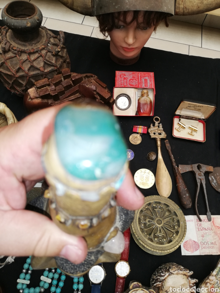 Artesanía: Botella artesanal de la Amazona or tribu.. Piedras naturales.. Amatista..etc..con cuatro cara.. - Foto 6 - 220609707