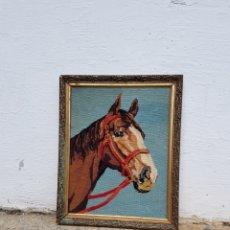 Artesanía: CUADRO DE CABALLO ENTRETEJIDO EN PETI PUA AÑOS 1960 - 70 APROX. Lote 220900850