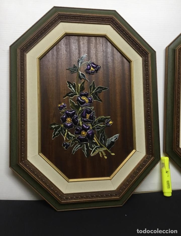 Artesanía: Esmaltes enmarcados con doble marco octogonal - Foto 2 - 222821095