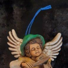 Artesanía: FIGURA DE ÁNGEL MUSICO EN GRES MODELADO Y POLICROMADO. ROGAMOS LEER BIEN CONDICIONES ANTES DE PUJAR. Lote 259307550
