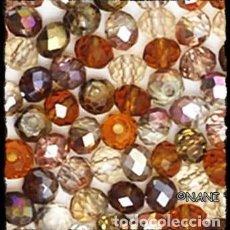 Artesanía: LOTE DE 40 CRISTALES AUSTRIACOS ESPACIADORES, RONDELLE DE 3X4MM. TONOS MARRONES. Lote 288569213