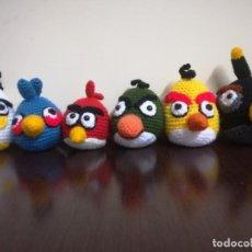 Artesanía: LOTE DE 6 ANGRY BIRDS, AMIGURUMIS. Lote 242127165