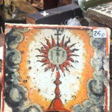 Artesanía: AZULEJO RELIGIOSO - MEDIDA 14X14 CM - REPRODUCCION. Lote 262452970