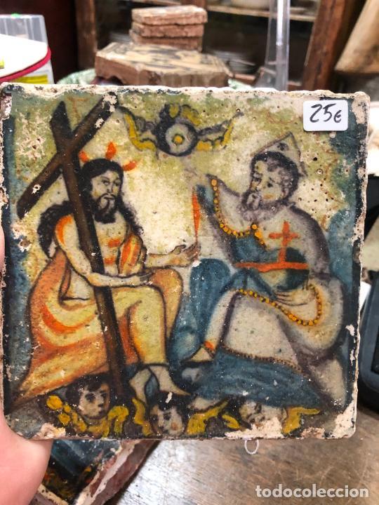 AZULEJO RELIGIOSO - MEDIDA 14X14 CM - REPRODUCCION (Artesanía - otros articulos hechos a mano)