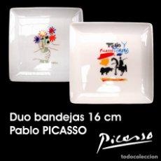 Artesanía: DUO BANDEJAS DE PORCELANA 16 CM - PABLO PICASSO. Lote 243647235