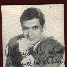 Autógrafos de Música : ALBERTO CORTEZ. FOTO PROMOCIONAL CON AUTÓGRAFO. DISCOGRAFIA.. Lote 25953810