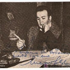 Autógrafos de Música : LUCIANO SALDARI-CON AUTOGRAFO-TEATRO DE LA SCALA- LA BOHEME- VELL I BEL. Lote 23639171