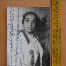 Autógrafos de Música : TARJETA POSTAL FOTOGRAFICA CON AUTOGRAFO DE CARMEN MORENO. Lote 10972589