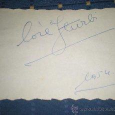 Autógrafos de Música : AUTOGRAFO DEL PIANISTA JOSE ITURBI MUSICA 1954. Lote 24616519