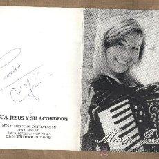 Autógrafos de Música : MARÍA JESÚS Y SU ACORDEÓN.FOTO PROMOCIONAL CON AUTÓGRAFO Y AUTOBIOGRAFIA.BENIDORM. Lote 22619296