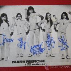Autógrafos de Música : ANTIGUA FOTO / POSTAL DE MARY MERCHE Y SUS MUÑECAS, FIRMAS / AUTOGRAFOS ORIGINALES. . Lote 29382736