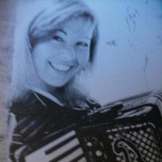 Autógrafos de Música : TARJETA DE MARIA JESUS Y SU ACORDEÓN CON DEDICATORIA Y FIRMA AUTOGRAFO. Lote 29599369