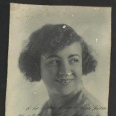 Autógrafos de Música : PILAR ALONSO -CUPLETISTA -FOTOGRAFIA CON AUTOGRAFO- AÑO 1924- MED.17X23 CM. VER FOTOS ADIC.- (F-358). Lote 36620285