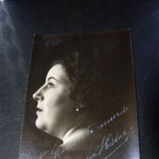 Autógrafos de Música : ANTIGUO AUTÓGRAFO - MARGARITA HIDALGO - CANTANTE DE ZARZUELA AÑOS 20 - FOTO EN TARJETA POSTAL - 1924. Lote 41077874