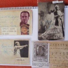 Autógrafos de Música : 4 AUTOGRAFOS DEDICADOS DE HIPOLITO LAZARO , TOTI DEL MONTE,MARIA VILA Y JAUMA CASALS. Lote 41702170